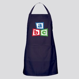 ABC Blocks Apron (dark)