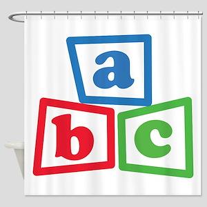 ABC Blocks Shower Curtain