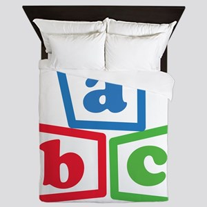 ABC Blocks Queen Duvet