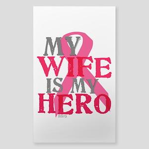 My wife is my hero Sticker (Rectangle)