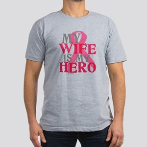 My wife is my hero Men's Fitted T-Shirt (dark)