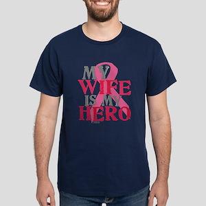 My wife is my hero Dark T-Shirt