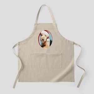 Airedale Terrier Santa BBQ Apron