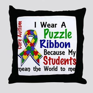 Means World To Me 4 Autism Throw Pillow