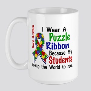 Means World To Me 4 Autism Large Mug
