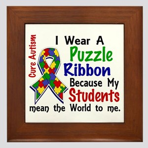 Means World To Me 4 Autism Framed Tile
