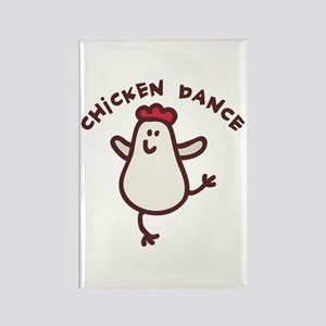 Chicken Dance Rectangle Magnet