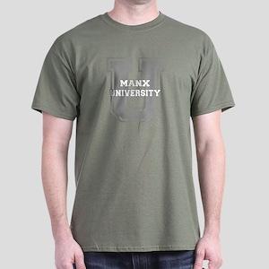 Manx UNIVERSITY Dark T-Shirt