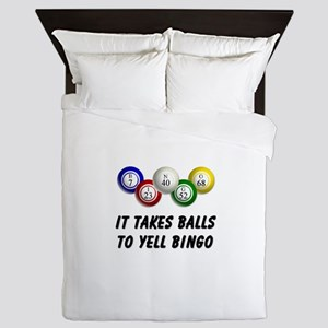 Balls to Bingo Queen Duvet