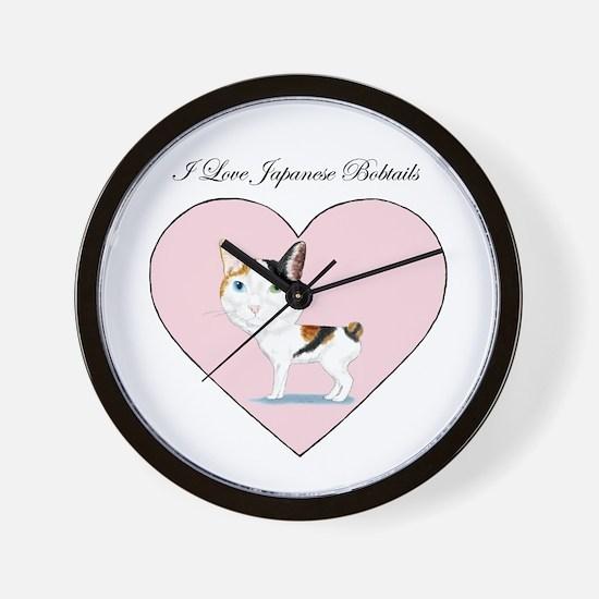 I Love Japanese Bobtails Wall Clock