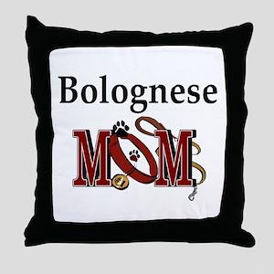 Bolognese Mom Throw Pillow