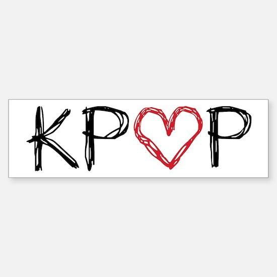 KPOP Love Scribble Sticker (Bumper)