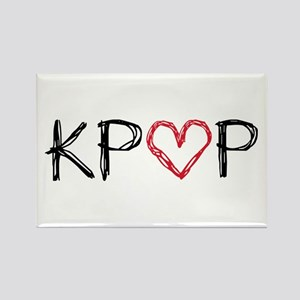 KPOP Love Scribble Rectangle Magnet
