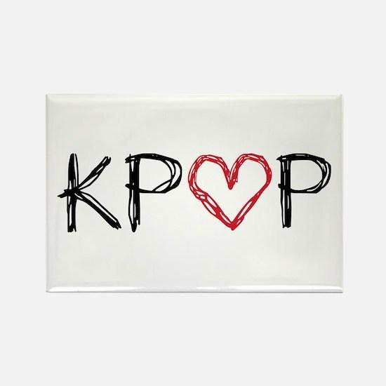 KPOP Love Scribble Rectangle Magnet