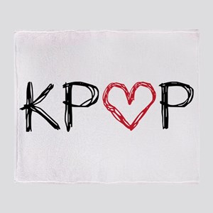 KPOP Love Scribble Throw Blanket
