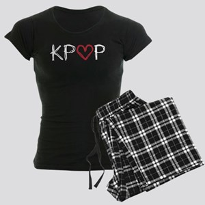 KPOP Love Scribble Women's Dark Pajamas