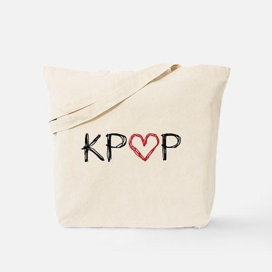 KPOP Love Scribble Tote Bag