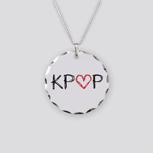 KPOP Love Scribble Necklace Circle Charm