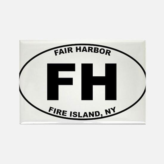Fair Harbor Fire Island Rectangle Magnet