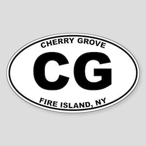 Cherry Grove Fire Island Sticker (Oval)