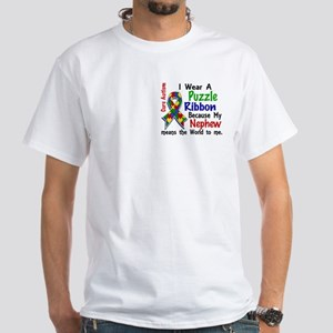 Means World To Me 4 Autism White T-Shirt