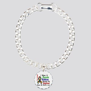 Means World To Me 4 Autism Charm Bracelet, One Cha