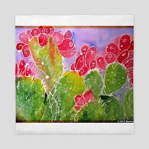 Cactus, southwest, art!! Queen Duvet