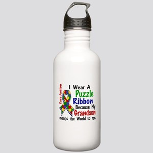 Means World To Me 4 Autism Stainless Water Bottle