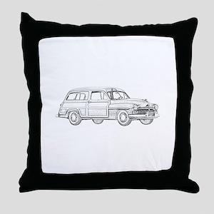 1950 Mercury Woodie Throw Pillow