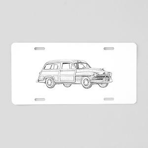 1950 Mercury Woodie Aluminum License Plate