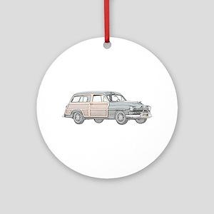 1950 Mercury Woodie Ornament (Round)