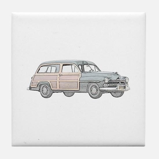1950 Mercury Woodie Tile Coaster
