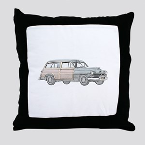 1950 Mercury Woodie Throw Pillow