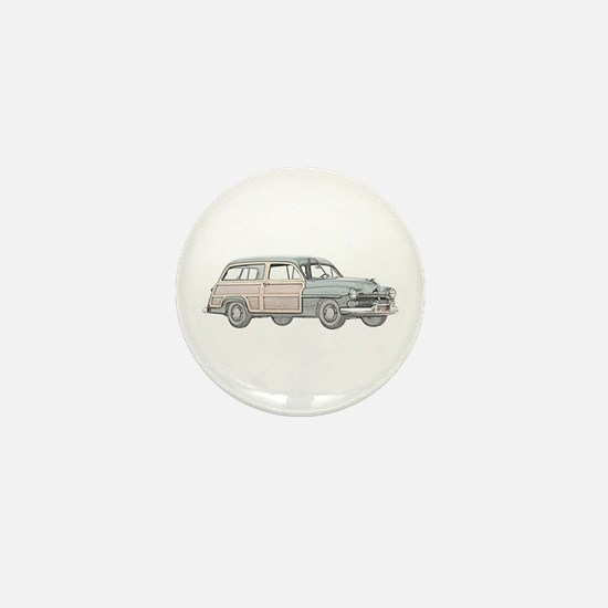 1950 Mercury Woodie Mini Button