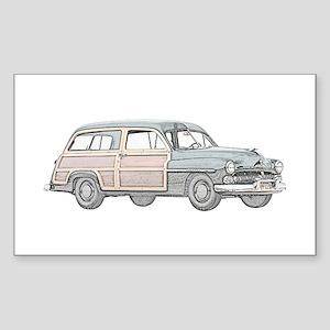 1950 Mercury Woodie Sticker (Rectangle)
