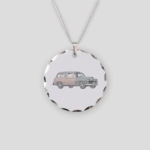 1950 Mercury Woodie Necklace Circle Charm