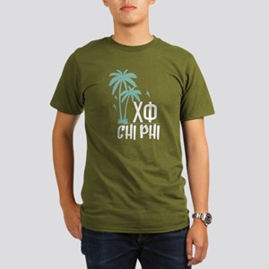 Chi Phi Palm Trees Organic Men's T-Shirt (dark)