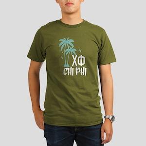 Chi Phi Palm Trees Organic Men's T-Shirt (dark)