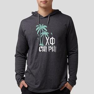 Chi Phi Palm Trees Mens Hooded Shirt