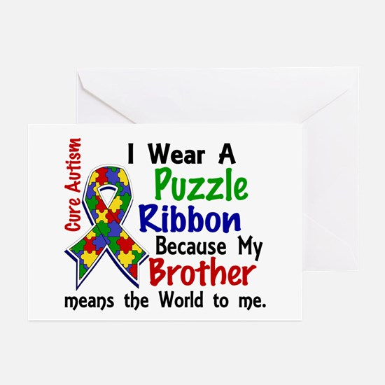 Means World To Me 4 Autism Greeting Cards (Pk of 1