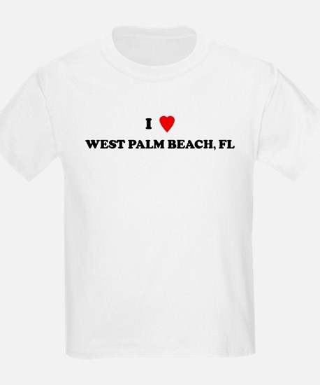 I Love West Palm Beach Kids T-Shirt