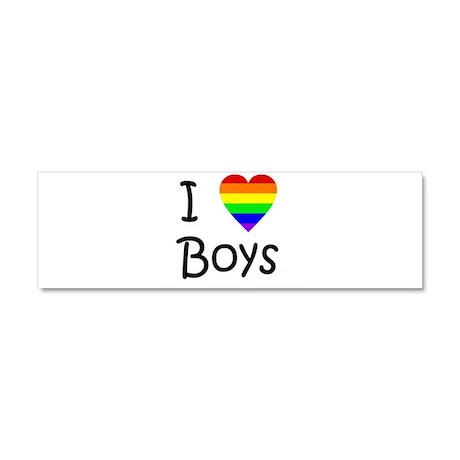 I Love Boys (script) Car Magnet 10 x 3
