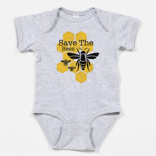 Honeycomb Save The Bees Baby Body Suit