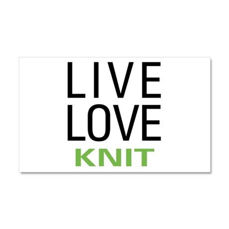 Live Love Knit Car Magnet 20 x 12