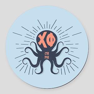 Chi Phi Octopus Round Car Magnet