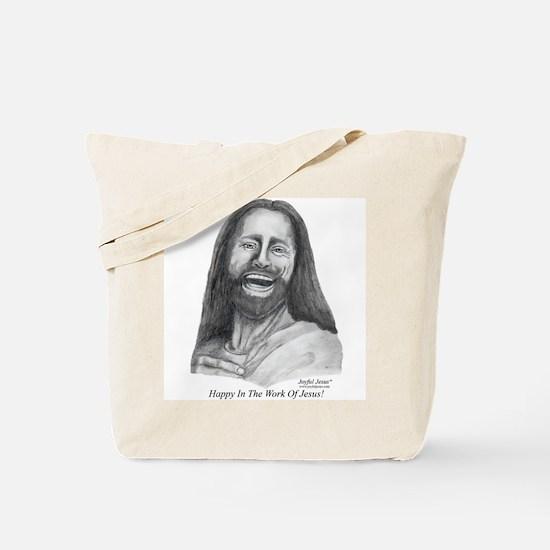 JJ- Happy in the Work of Jesu Tote Bag