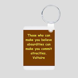 victor hugo quote Aluminum Photo Keychain