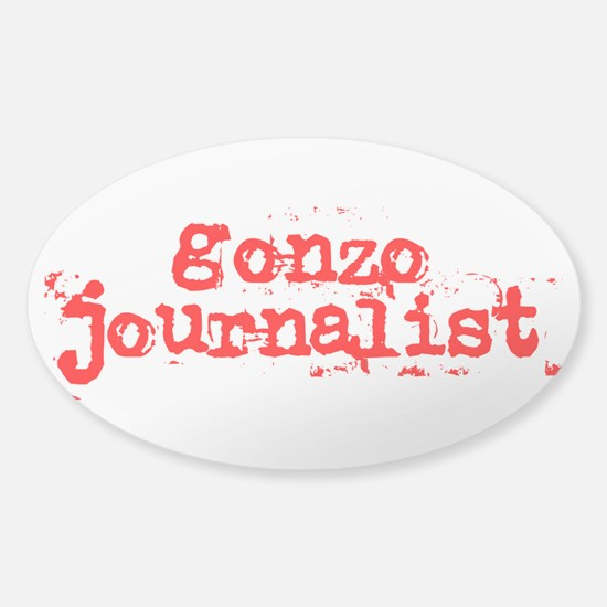 Gonzo Journalist Sticker (Oval)
