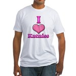 I Heart Katniss 1 Fitted T-Shirt
