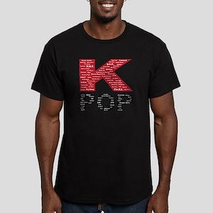 KPOP Artists Men's Fitted T-Shirt (dark)
